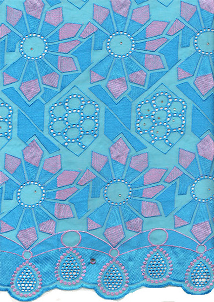 Voile Lace 223 (Turquoise Blue)