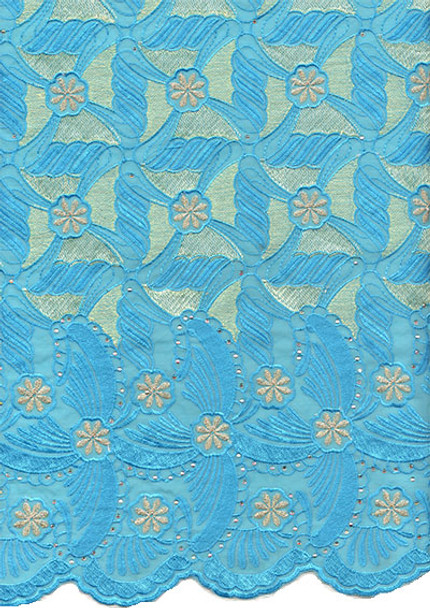 Voile Lace 235 (Turquoise Blue)
