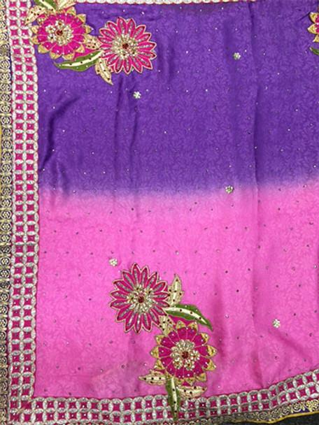 Saree George 48 (Pink/Lilac)