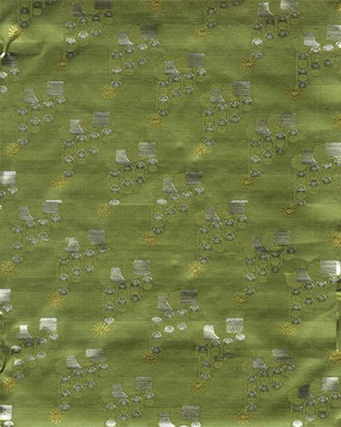 Grand Diamond Headtie 7 (Olive Green/Silver)