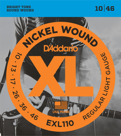 D'addario EXL110 Electric Guitar Strings 10-46