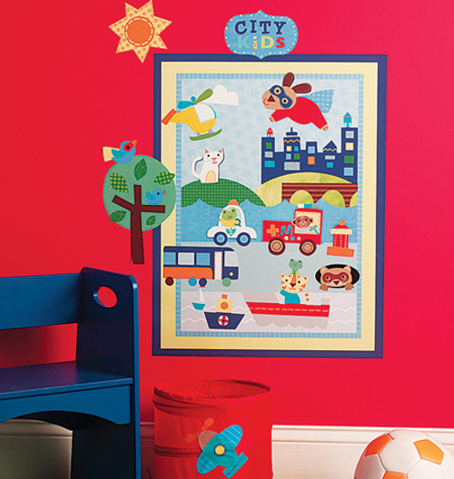 About Town Wall Stickers - Wallies Wall Play