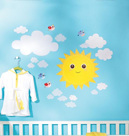 Wallies Baby Wall Stickers - Baby Sunshine