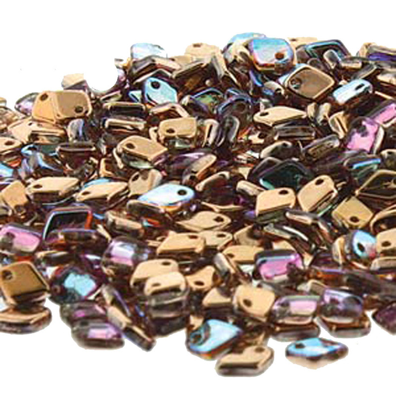 Crystal Copper Rainbow Czech Glass Dragon Scale Bead 1 5X5Mm 9 5 Grams DRG398533-TB