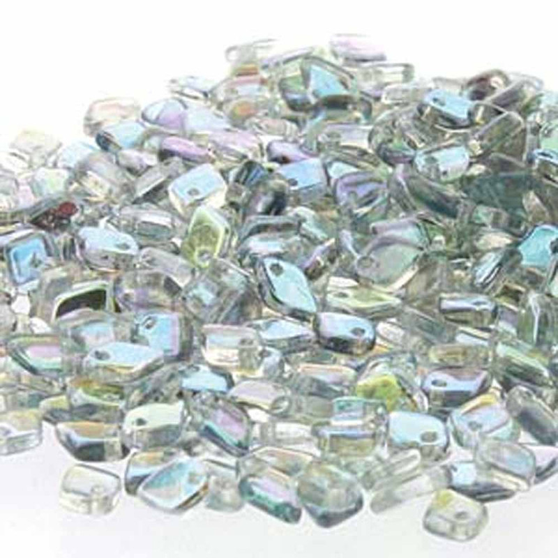 Crystal Blue Rainbow Czech Glass Dragon Scale Bead 1 5x5mm 9 5 Grams DRG398538-TB