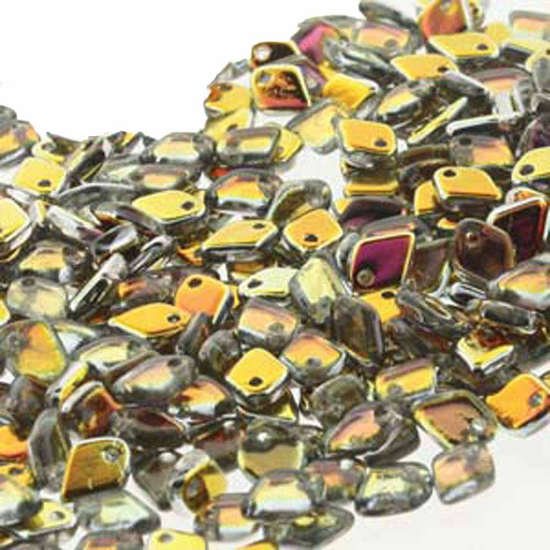 Crystal Marea Czech Glass Dragon Scale Bead 1 5x5mm 9 5 Grams DRG328001-TB