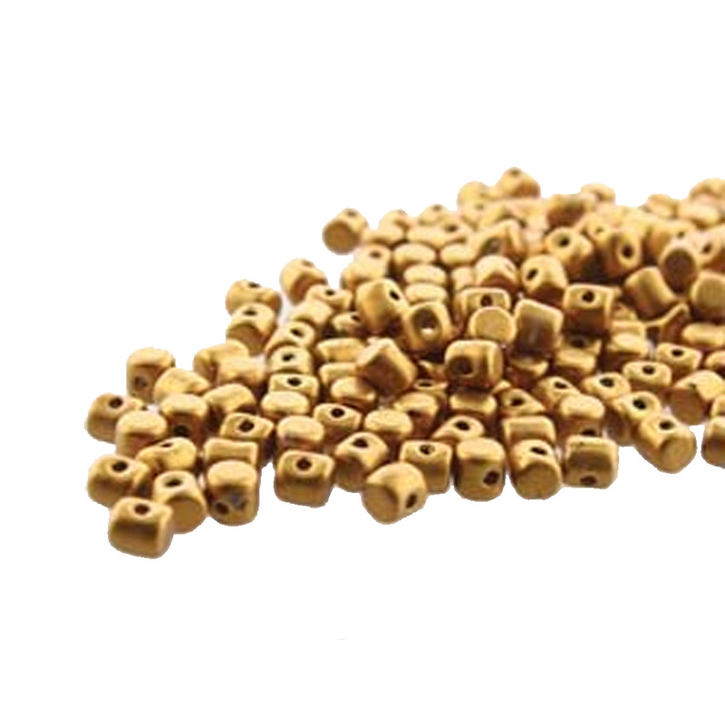 Bronze Gold Matte MINOS® Par PUCA® 2 5x3mm Cylinder Czech Glass Beads 5 gr HP-MNS253-00030-01740-5G