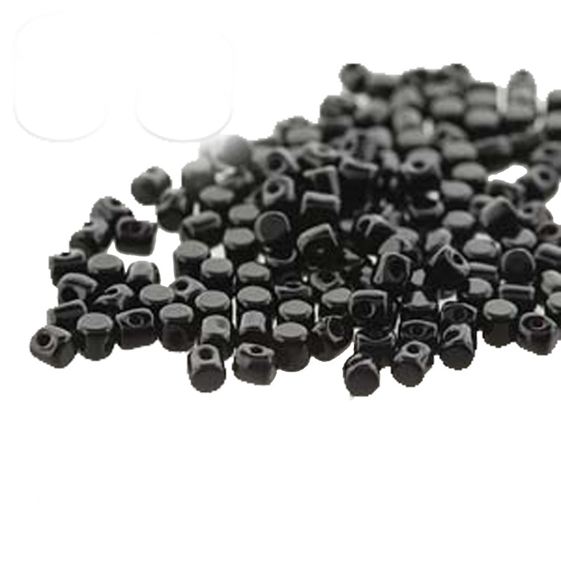 Jet Black MINOS® Par PUCA® 2 5x3mm Cylinder Czech Glass Beads 5 grams HP-MNS253-23980-5G