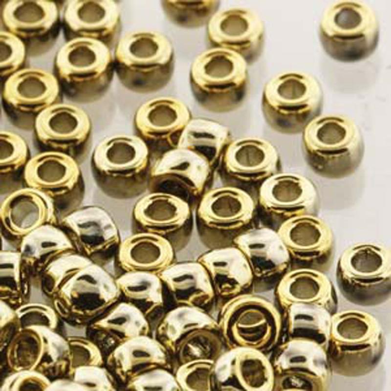 Matubo Czech Glass Seed Beads 7/0 (3.5mm) 50 Grams 1.5mm Hole (Crystal Full Amber)