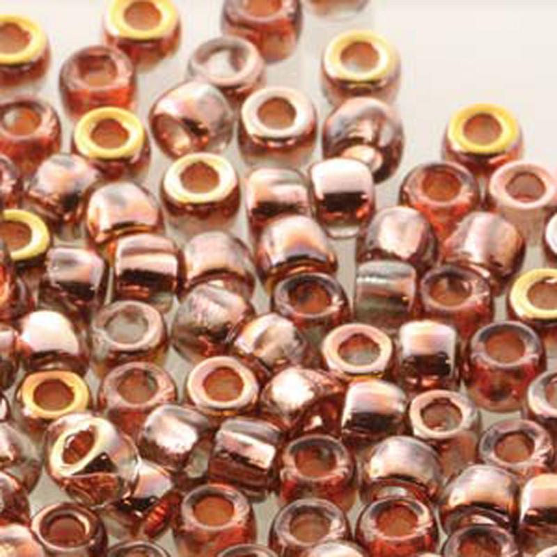 Matubo Czech Glass Seed Beads 7/0 (3.5mm) 50 Grams 1.5mm Hole (Crystal Capri Gold)