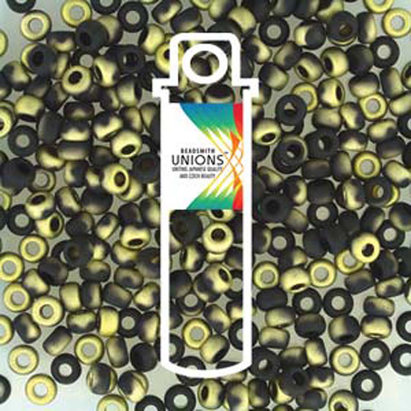 Black Amber Matte Unions 15/0 Seed Beads Round Rocailles 8 Grams