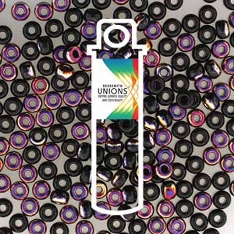 Black Sliperit- Unions 15/0 Seed Beads Round Rocailles 8 Grams