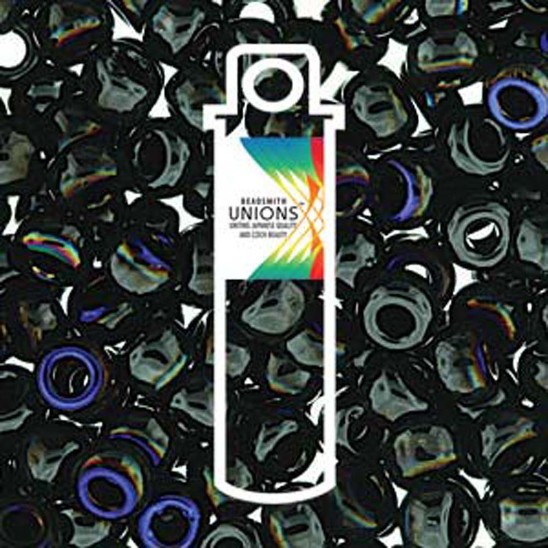 Black Azuro Unions 6/0 Seed Beads Round Rocailles 20 Grams