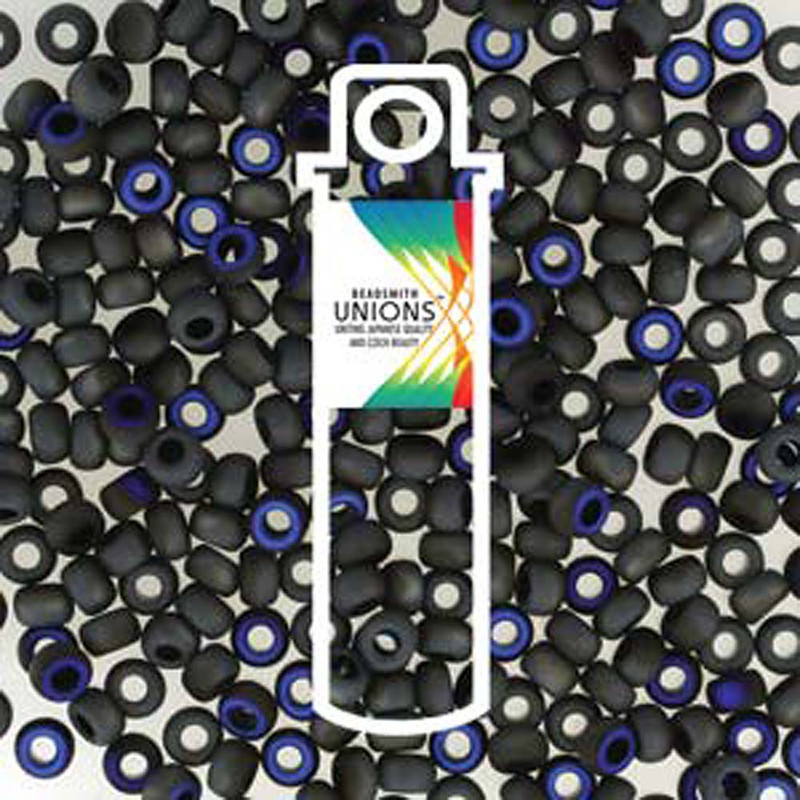 Black Azuro Matte Unions 6/0 Seed Beads Round Rocailles 20 Grams