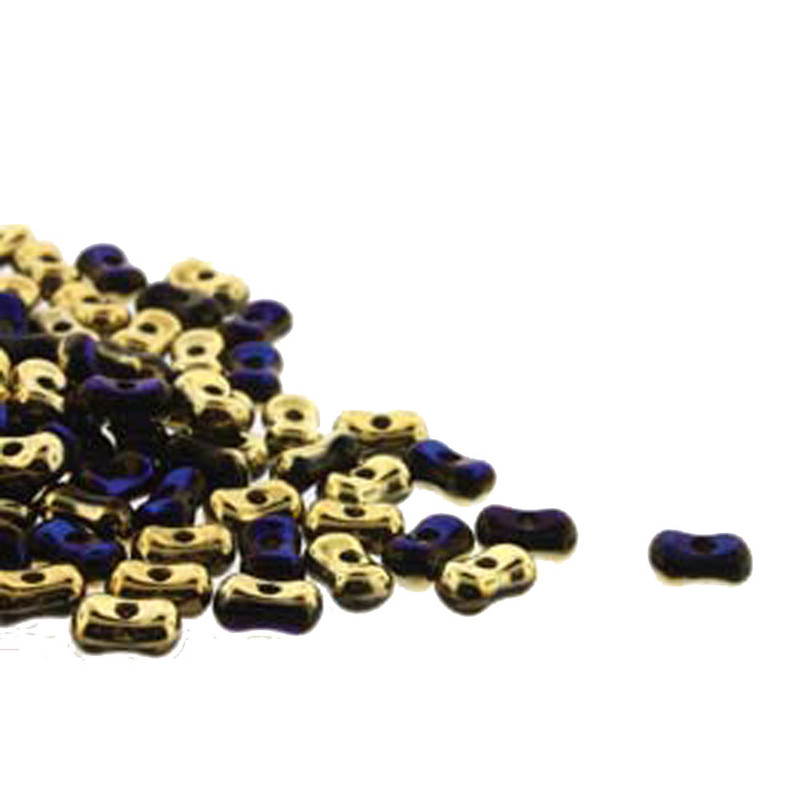 Calif Blue Farfalli 3.2x6.4mm Peanut Czech Glass Beads 19 grams