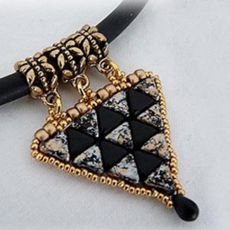 CLEOPATRA PENDANT Using Kheops® par Puca® Beads Free jewelry Pattern CLEOPATRA PENDANT