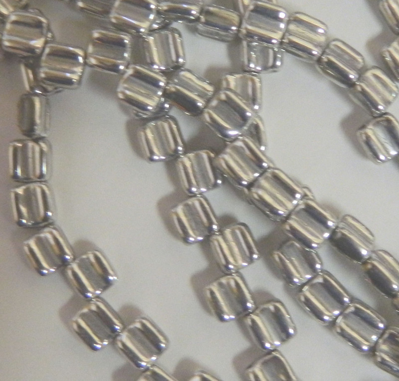 Groovy 6mm Czchmate Glass Czech Two Hole Crystal Full Labrador 40 Beads GRV0600030-27000
