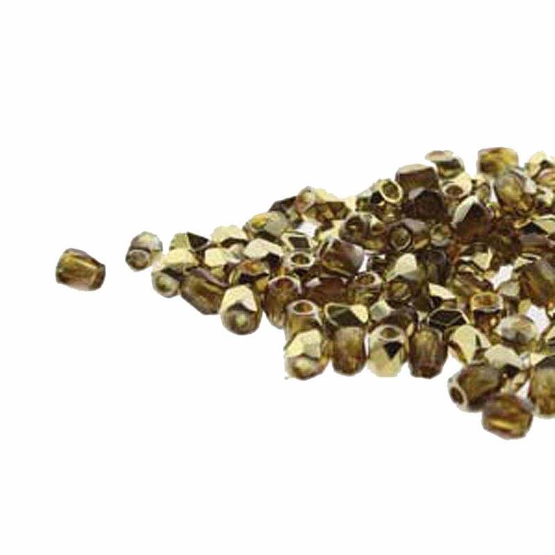 Fire Polish True2s 2mm Czech Glass Topaz Amber  600 Beads FPR0210060-26441