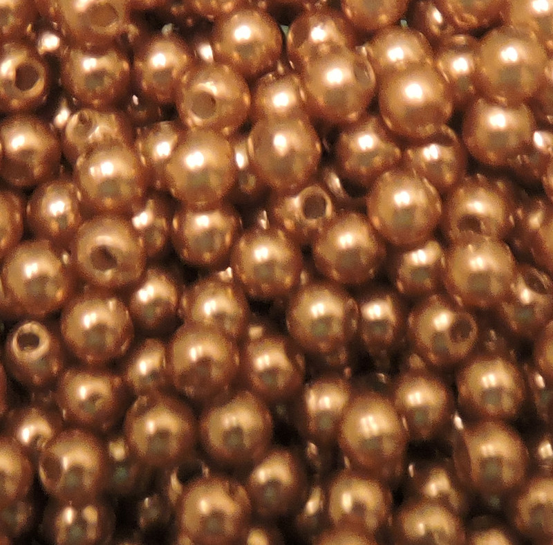 Brown 8mm Acrylic Round Beads Pearl Coated bags approx 80 beads G108C