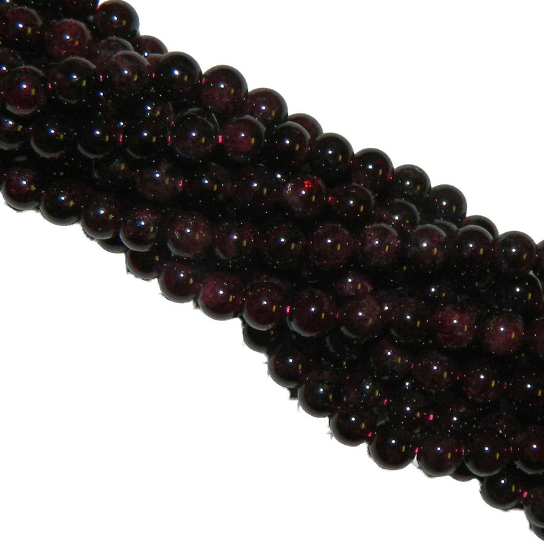 12mm Garnet Gemstone Round beads 15 Inch Loose Strand B2-M105
