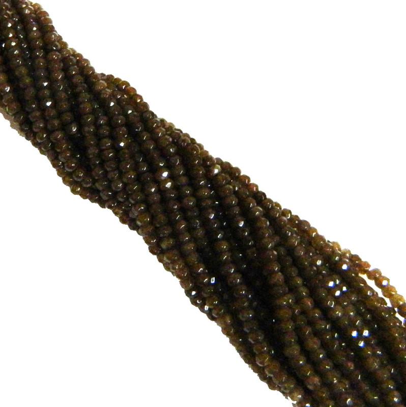 4mm Plum Quartz Faceted Dyed Gemstone Rondelle Beads 15 Inch Loose B2-SC1B66
