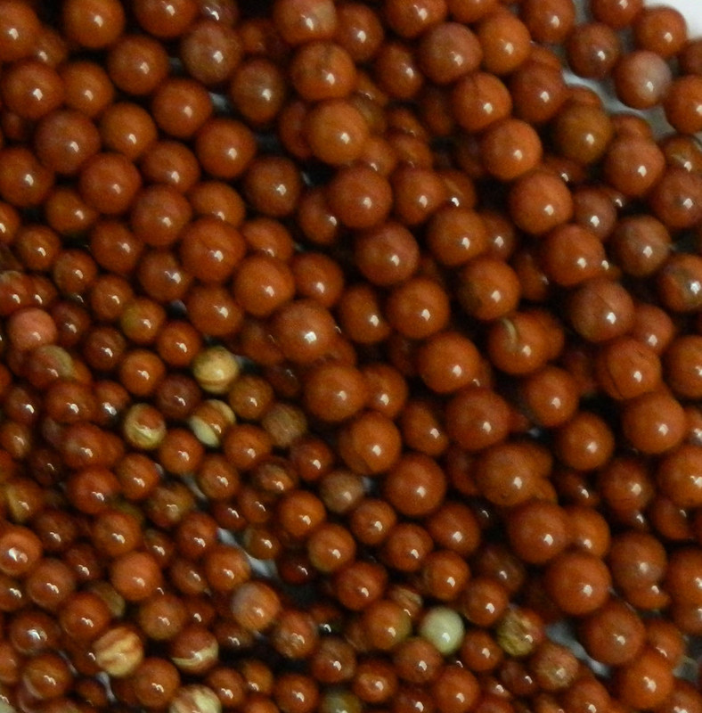 Red Jasper 4mm Natural Gemstone Rondelle Beads 15 Inch Loose B2-R12-4