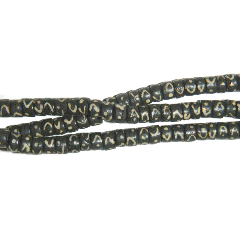 "7x4mm Heishi Hand Carved Bone Beads 7"" Strand 2mm Hole BA-BH-3724"