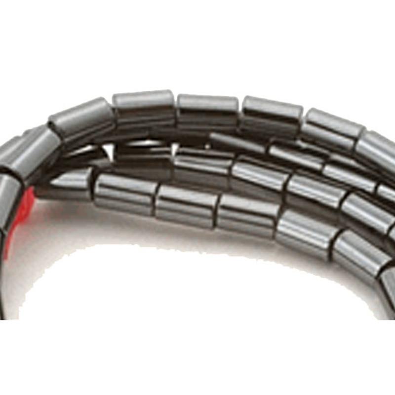 4mm Hematite Manmade Tube Beads 15 inch Loose Srand B2-H3