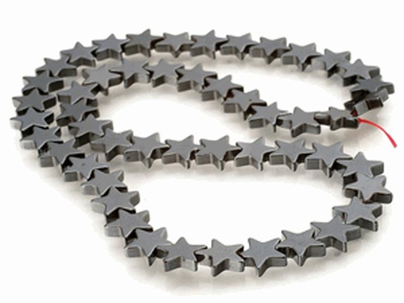 6mm Hematite Manmade Star Beads 15 inch Loose Srand B2-H17
