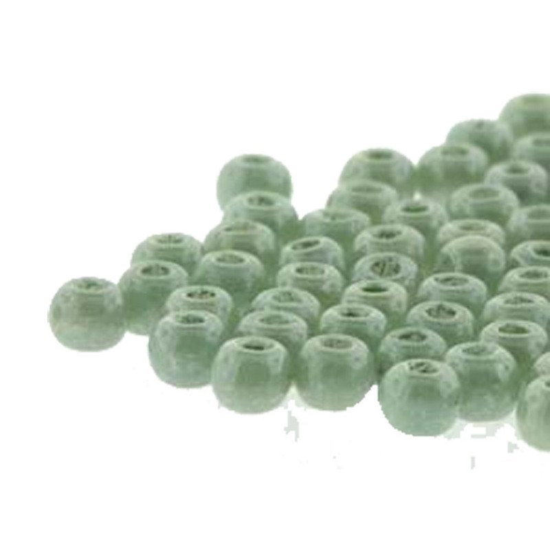 Round Druk True2s 2mm Czech Glass Chalk Dk Green Lstr 600 Pcs-Loose DK0203000-14459