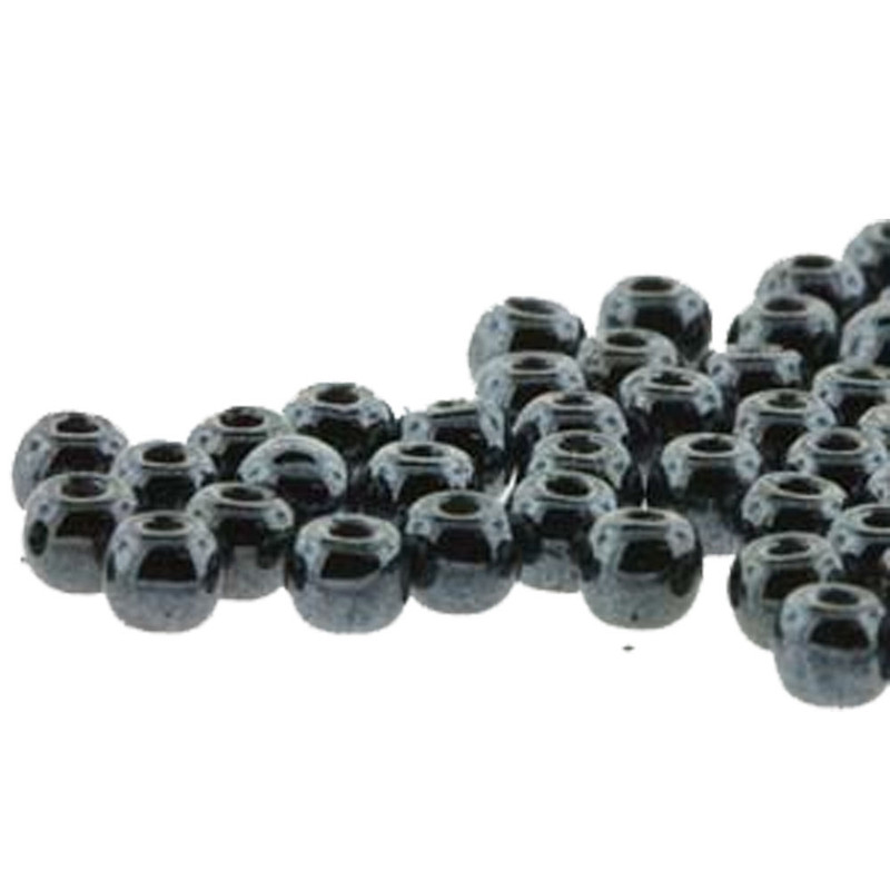 Round Druk True2s 2mm Czech Glass Jet Hematite 600 Pcs-Loose DK0223980-14400