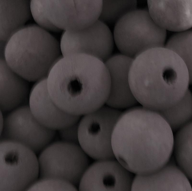 48 Brown 20mm Macrame Large 5mm Hole Barrel Rose Wood Beads BA-W428-BROWN