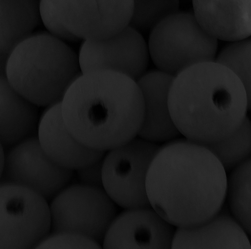 48 Black 20mm Macrame Large 5mm Hole Barrel Rose Wood Beads BA-W428-BLACK