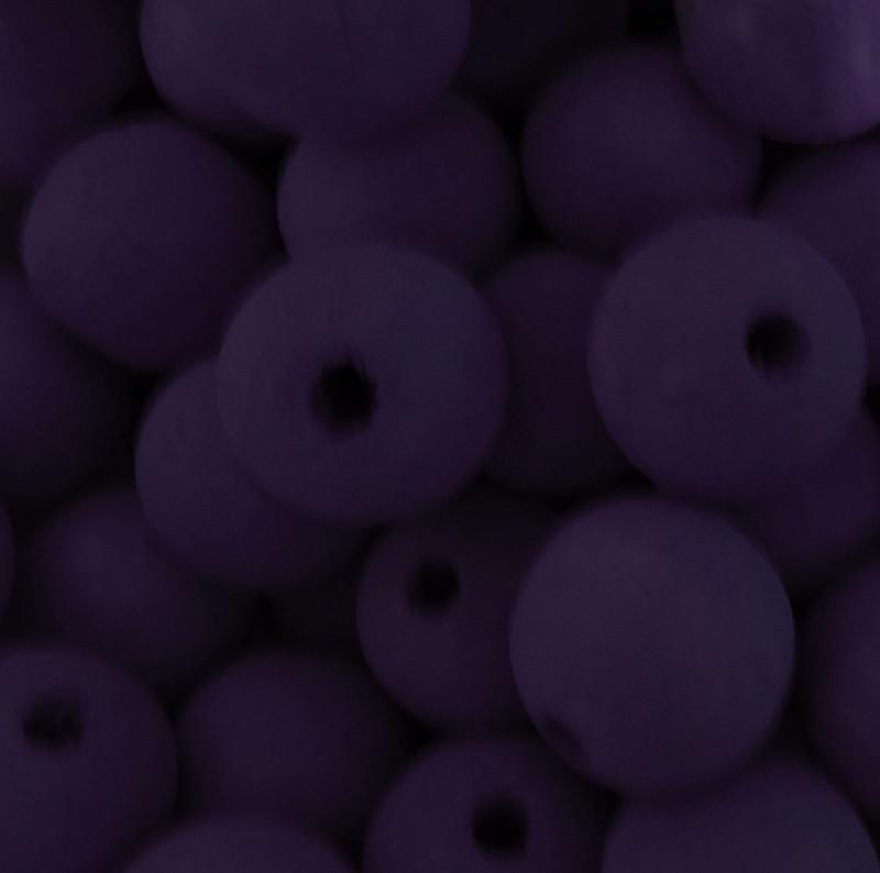 6 Purple 20mm Macrame Large 5mm Hole Barrel Rose Wood Beads AC-W428-PURPLE