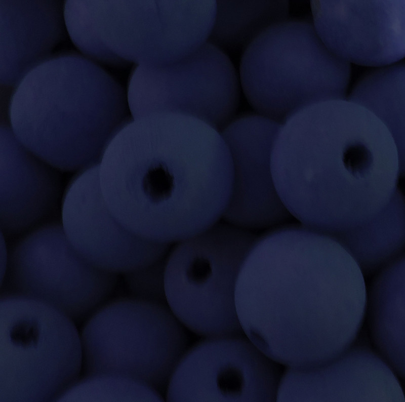 6 Blue 20mm Macrame Large 5mm Hole Barrel Rose Wood Beads AC-W428-BLUE