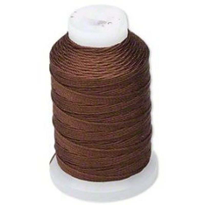 Silk Beading Thread Cord Size FF Chestnut 0.015 Inch 0.38mm Spool 115 Yd 5182BS