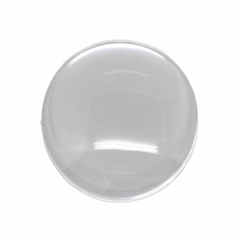 3 Clear Glass Dome Tile Cabochon Clear 25mm 1 Inch Non-calibrated Round AC-B14324