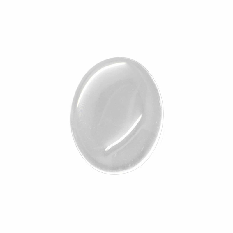 3 Clear Glass Dome Tile Cabochon Clear 20x15mm Non-calibrated Oval AC-B16770