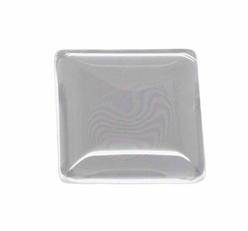 """3 Clear Glass Dome Tile Cabochon Clear 25x25mm 1"""" Non-calibrated Square AC-B13939"""