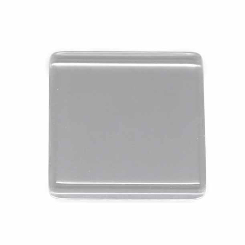 """3 Clear Glass Tile Cabochon Clear 25x25mm 1"""" Non-calibrated Square AC-B15124"""