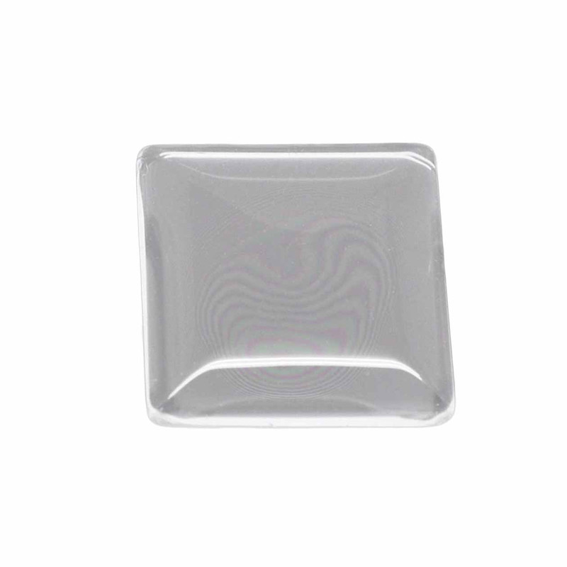 """3 Clear Glass Dome Tile Cabochon Clear 20x20mm 0.79"""" Non-calibrated Square AC-B16769"""