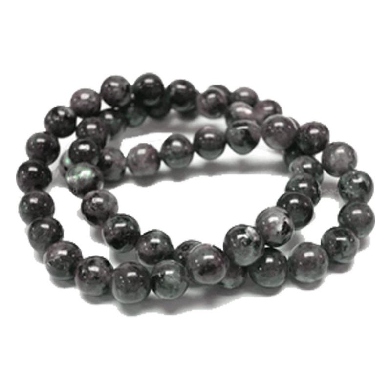8mm Round Black Labradorite Gemstone Beads 15 inch Loose Strand B2-8D40