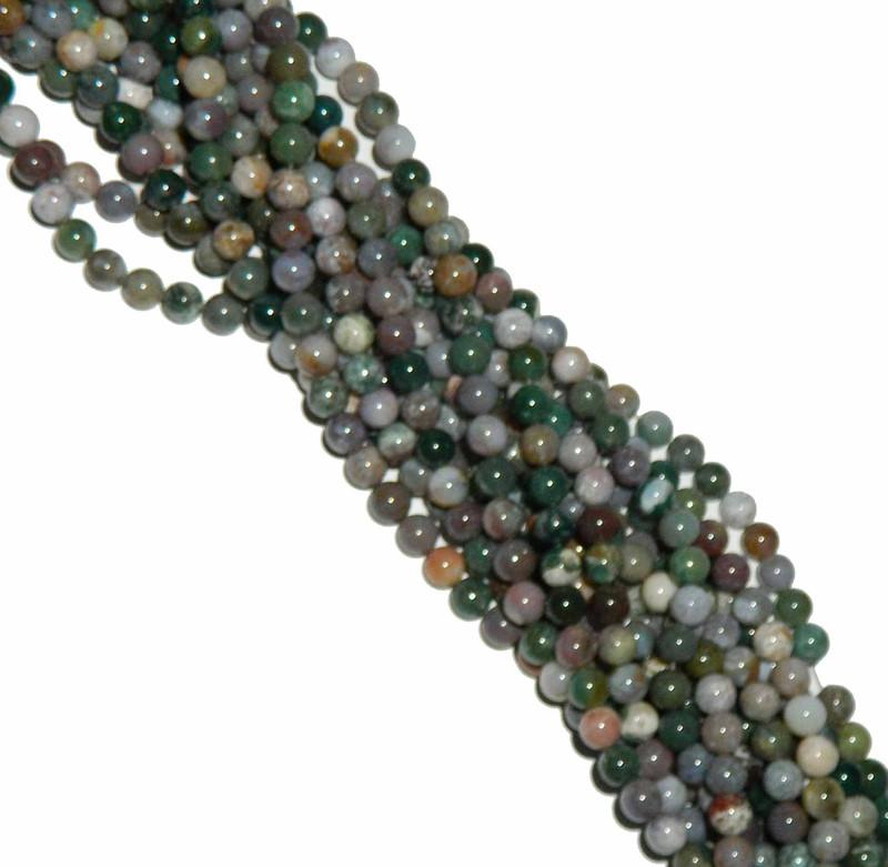 4mm Blood Agate Fancy Jasper Round Beads Gemstone Beads 15 inch B2-4D1