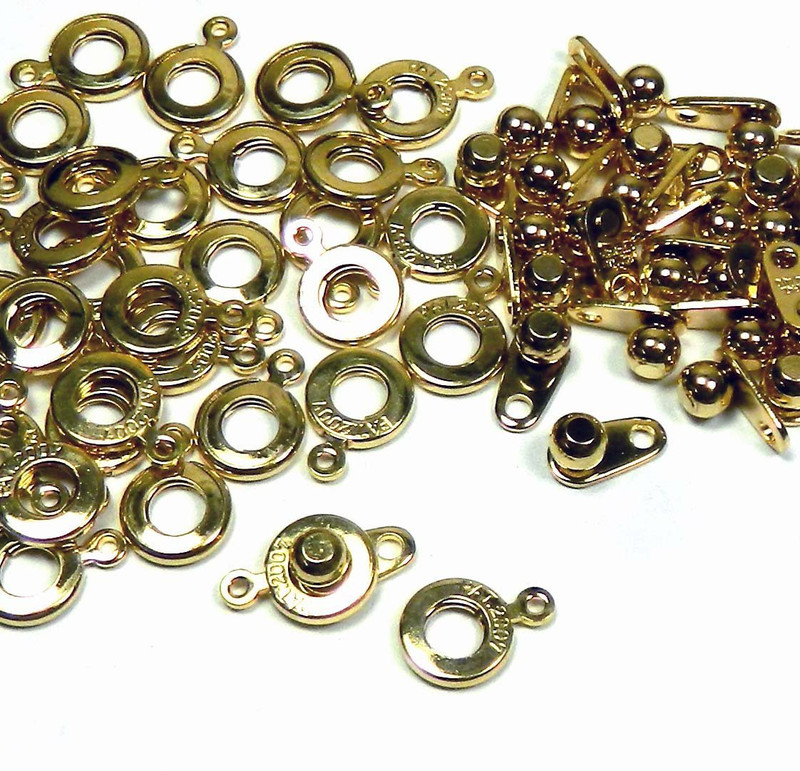 Premium Weight Ball & Socket Clasp 6mm Gold 36 Clasps Findings SKG02GP