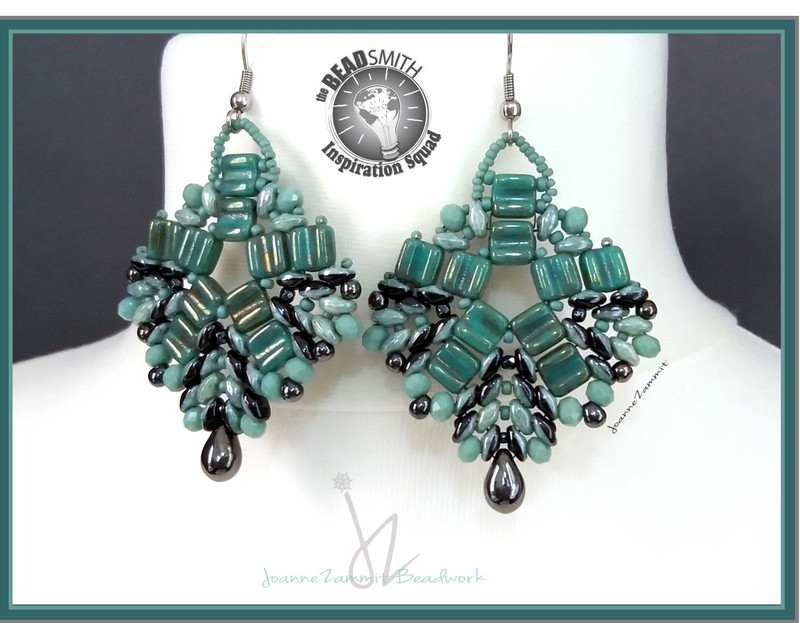 Duets & Groovies Earrings Free jewelry patern Copy of Superduo Honeycomb Bangle