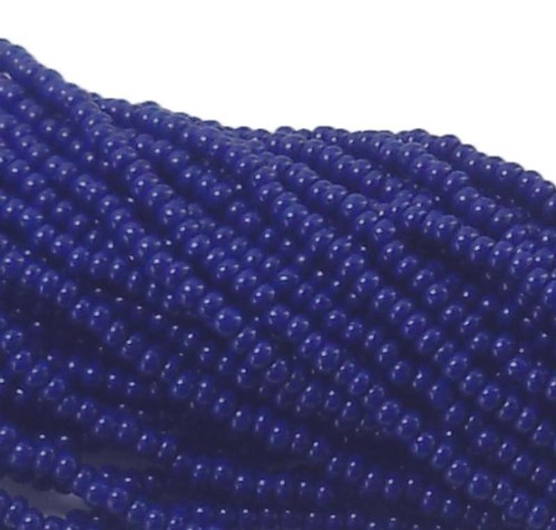 Blue Opaque Czech 11/0 Glass Seed Beads 1 Full Hank Preciosa 8122SB