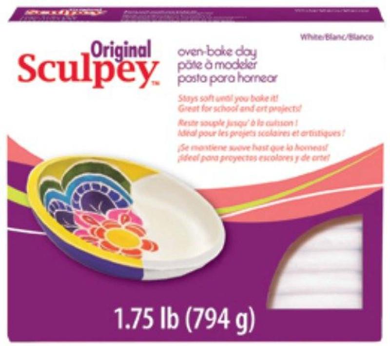 Sculpey Original Polymer Clay, 1.75-Pound, White DA-PFMS2