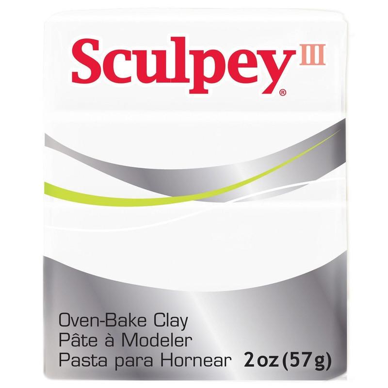 Sculpey III Original Polymer Clay, 2oz, White DA-PFMS001