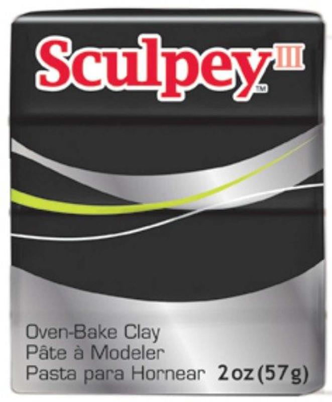 Sculpey III Original Polymer Clay, 2oz, Black DA-PFMS042