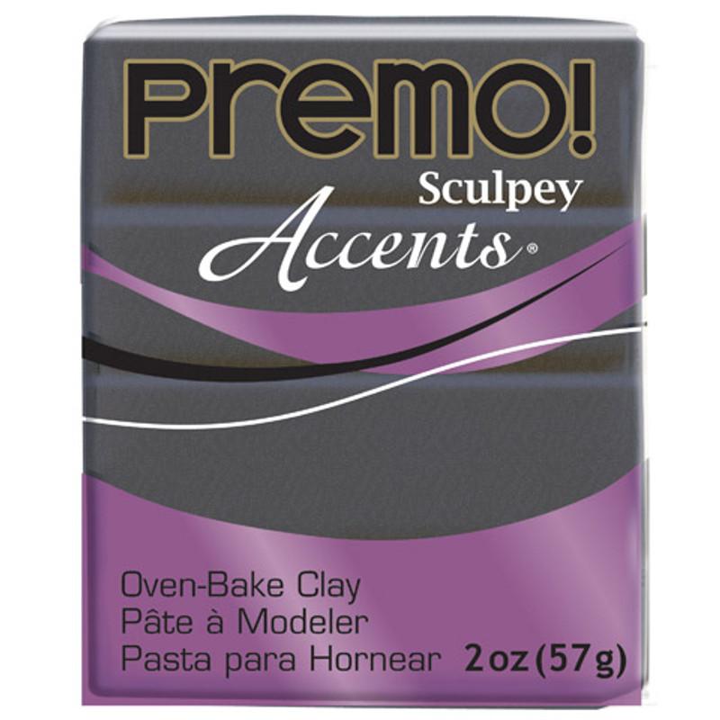 Sculpey Premo Accents Polymer Clay 2oz Graphite Pearl DA-10013666